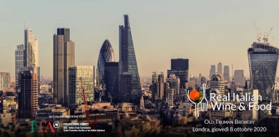 REAL ITALIAN WINE & FOOD – Londra 8 ottobre 2020